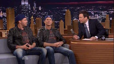 Amanda Seyfried, Chad Smith & Will Ferrell Drum Off