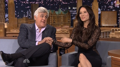Jay Leno, Lucy Liu, Kevin Delaney, Dave Davies