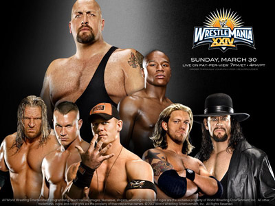 WWE Pay-Per-View - Wrestlemania 24 - Season 24 Episode 3