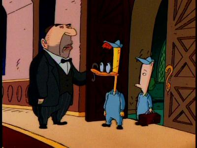 Duckman and Cornfed in 'Haunted Society Plumbers'