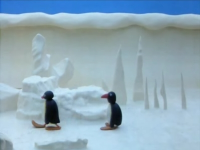 Pingu in the Ice Cave