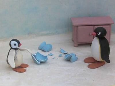 Pingu and the Broken Vase