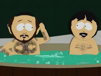 Two Guys Naked in a Hot Tub (2)
