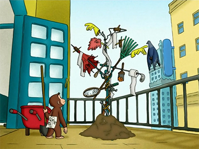 Curious George's Home for Pigeons