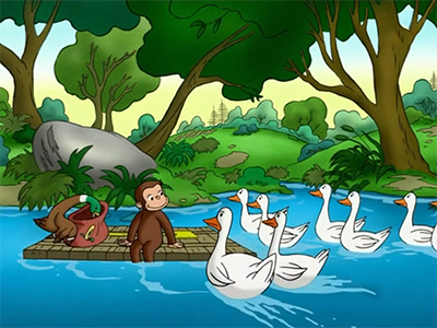 Curious George Goes Up the River