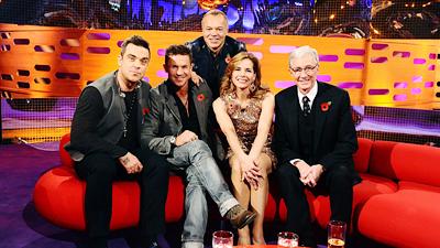 Robbie Williams, Paul O'Grady, Darcey Bussell and Felix Baumgartner