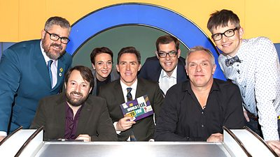 Gareth Malone OBE, Amanda Abbington, Richard Osman, Phill Jupitus and Greg Davies